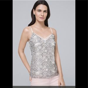 WHBM Floral Sequin Cami